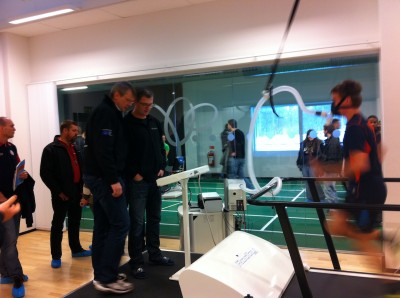 Nanne Olsson and Tomas Kempe monitors a Vo2-max test