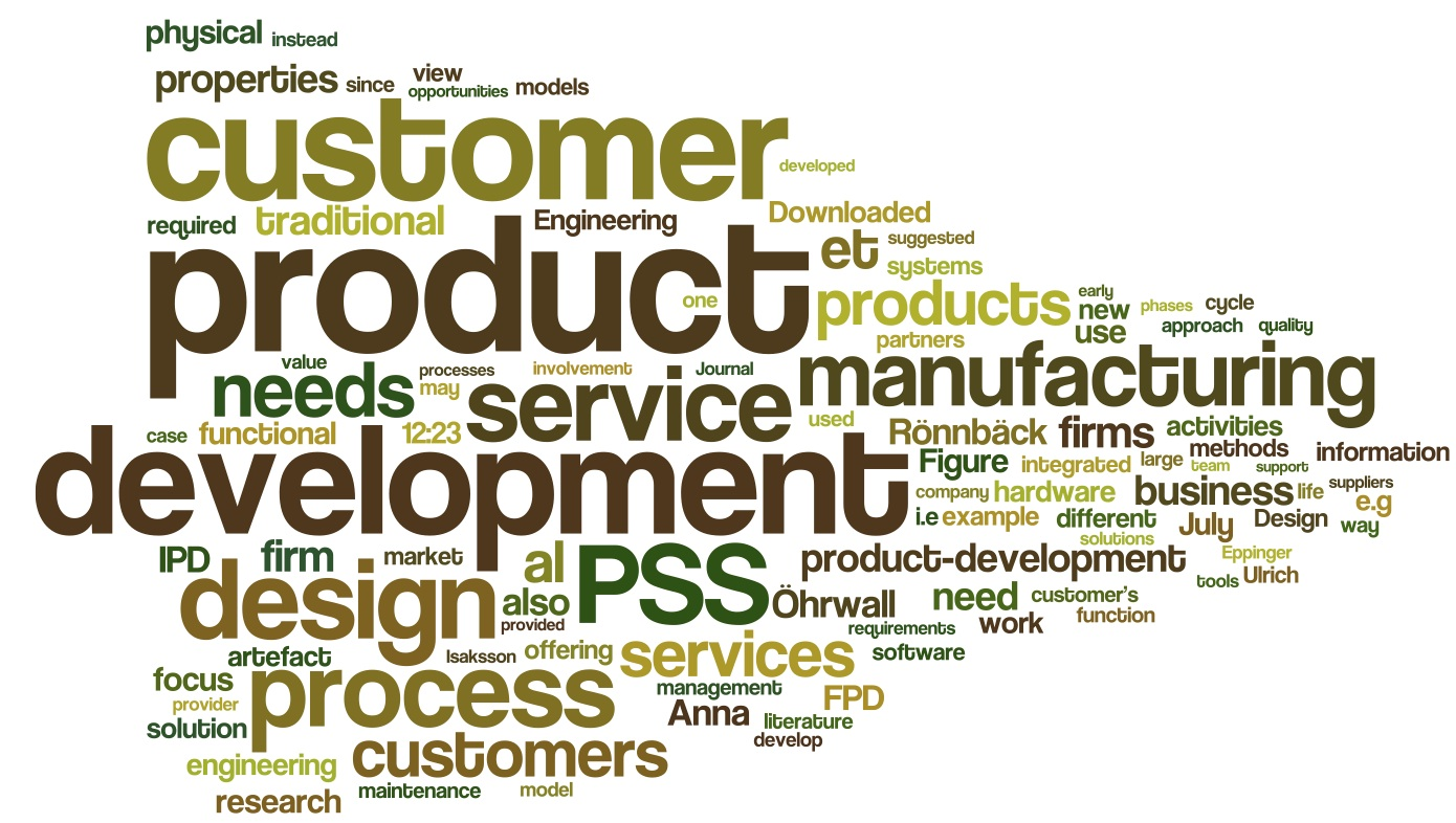 Development of product service systems challenges and for Product service design