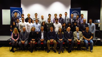 Team photo with students and partners