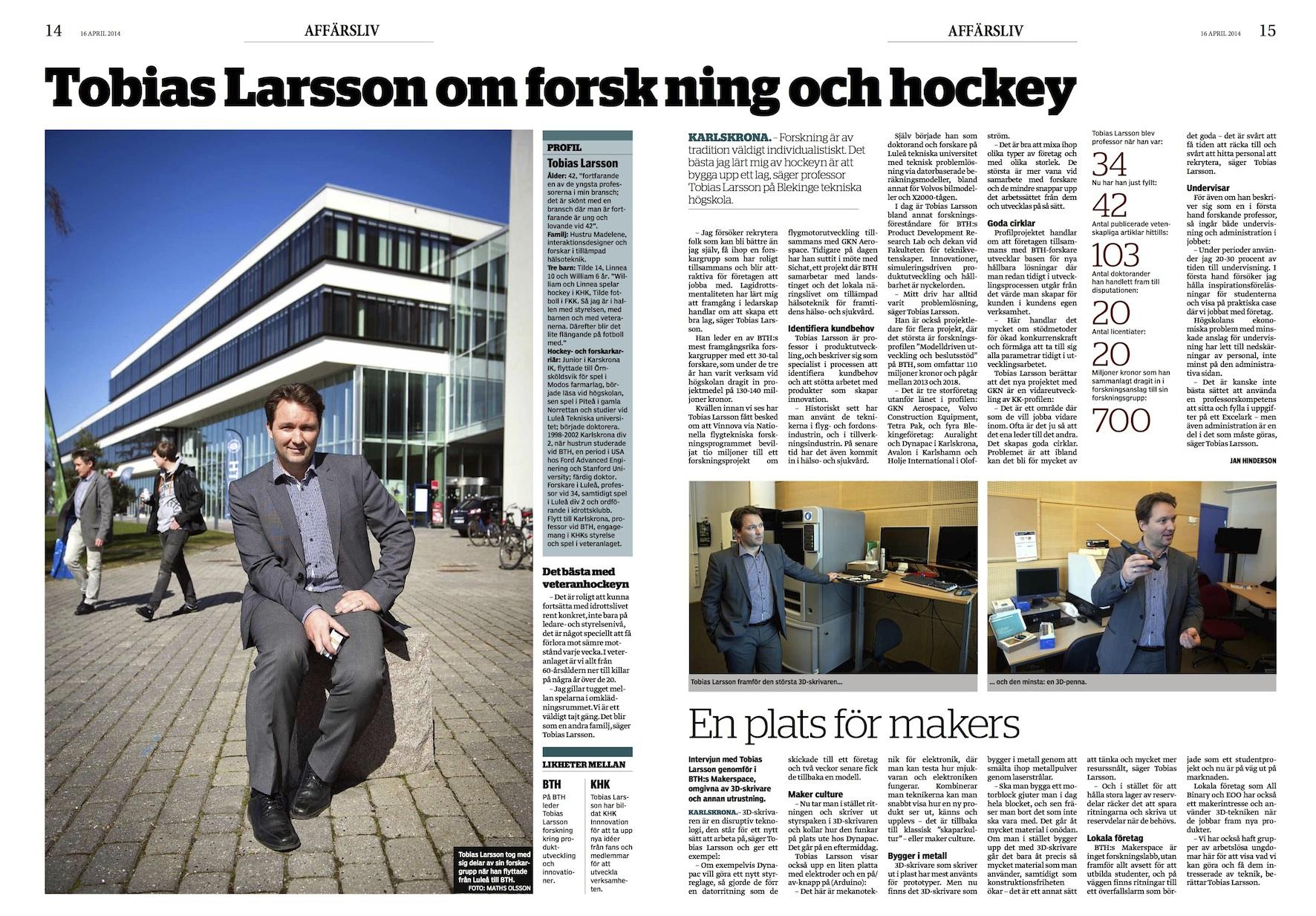 Tobias Larsson om forskning och hockey